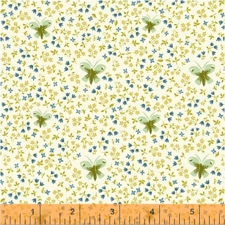 *BUNGALOW//BUTTERFLY//WHITE//AMY GIBSON//WINDHAM FABRICS