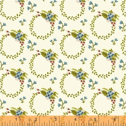 *BUNGALOW//WREATH//WHITE//AMY GIBSON//WINDHAM FABRICS