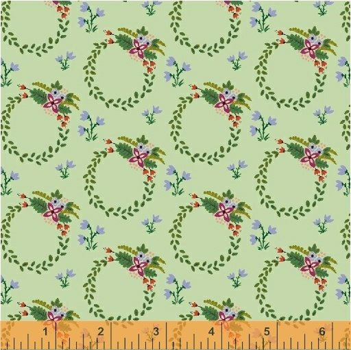 *BUNGALOW//WREATH//PISTACHIO//AMY GIBSON//WINDHAM FABRICS