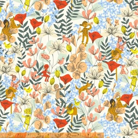 *PLAYGROUND//IN THE FLOWERS//MULTI//DYLAN MIERZWINSKI//WINDHAM FABRICS