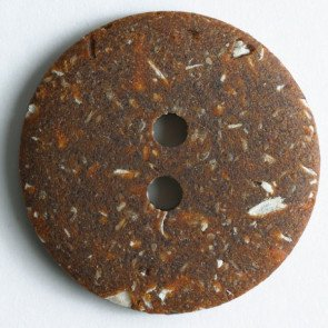 *FASHION ROUND TWO-HOLE BUTTON//BROWN//3/4 - 20MM//WASHABLE - DRY CLEANABLE//DILL BUTTONS
