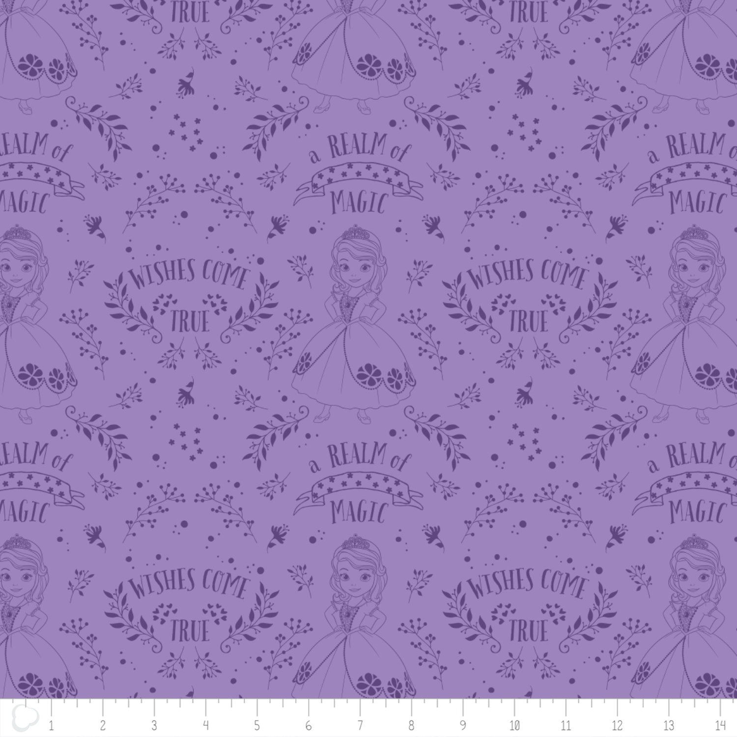 *DISNEY PRINCESS//SOFIA THE FIRST//OUTLINE TOILE//PURPLE//CAMELOT