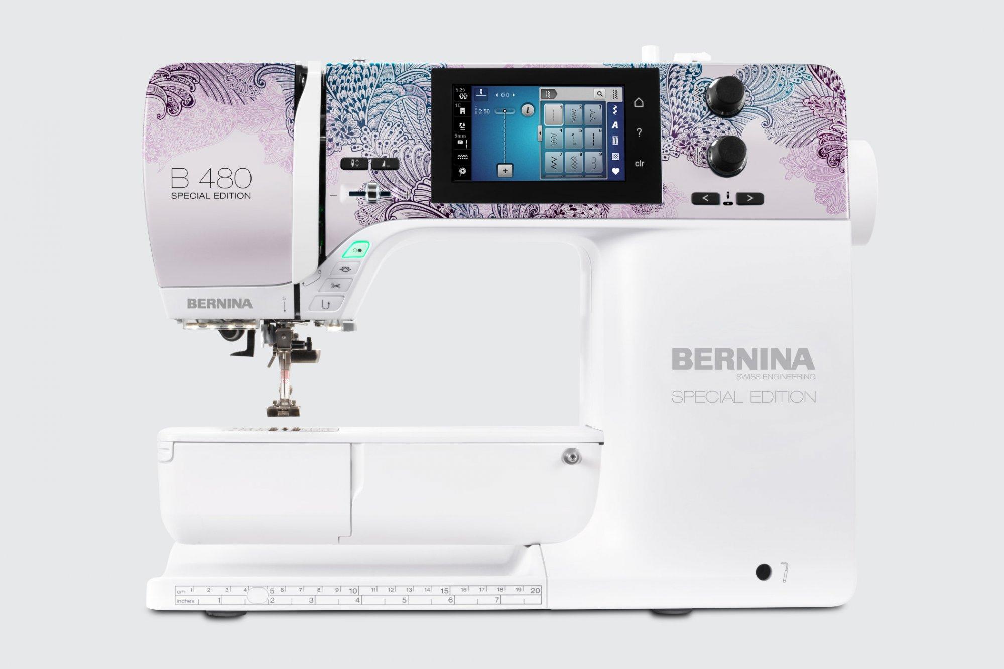 *B 480 SE  //PEACOCK EDITION//SEWING MACHINE PLUS SEWING TOTE//BERNINA