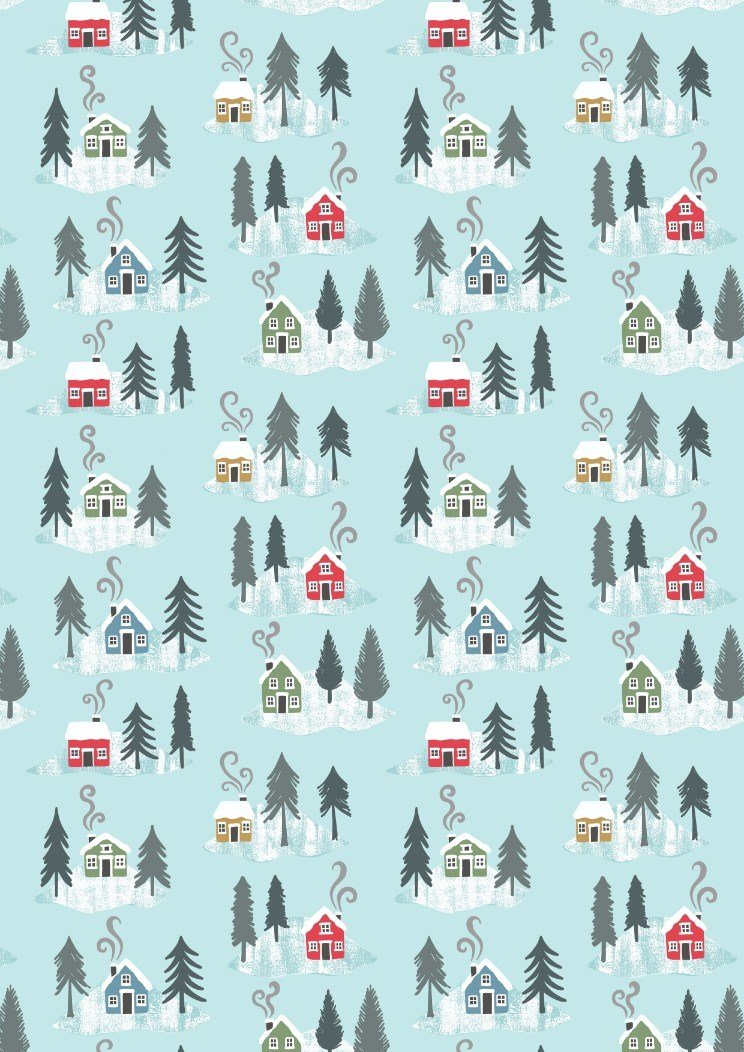 *SNOW DAYS//HOUSES//PEARLESCENT HIGHLIGHTS//ICE BLUE//LEWIS & IRENE