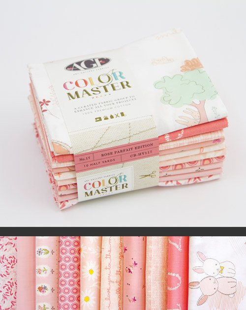 *COLOR MASTER BUNDLE NO.17//ROSE PARFAIT EDITION//5 YARDS(10 HALF YD CUTS)//ART GALLERY