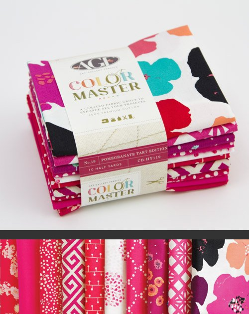 *COLOR MASTER BUNDLE NO.19//POMEGRANATE TART EDITION//5 YARDS(10 HALF YD CUTS)//ART GALLERY