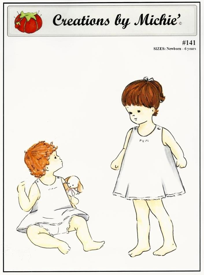 *SLIP AND PANTY//CREATIONS BY MICHIE'//NEWBORN - 6 YEARS