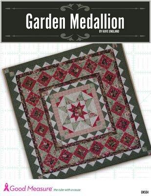 *GARDEN MEDALLION QUILT PATTERN BOOK//GOOD MEASURE//KAYE ENGLAND