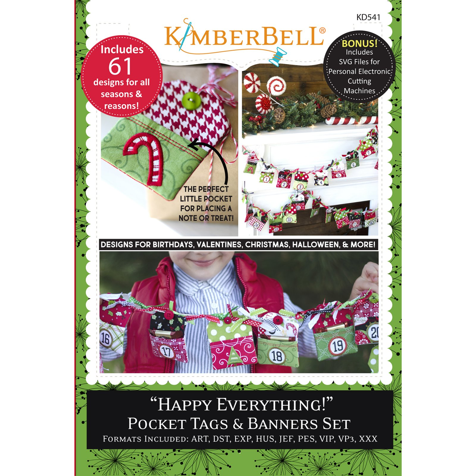 *HAPPY EVERYTHING!//POCKET TAGS & BANNERS SET//CD MULTI FORMAT//KIMBERBELL