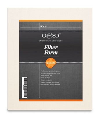*FIBERFORM CRAFT INTERFACING//WHITE//18x22//STABILIZER//OESD