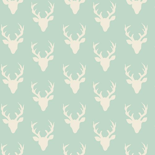 *HELLO BEAR//KNIT 60//TINY BUCK FOREST//MINT//BONNIE CHRISTINE//ART GALLERY