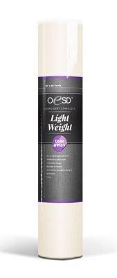 *LIGHTWEIGHT TEAR-AWAY//15 X 10 YDS //WHITE //1.5 OZ//STABILIZER//OESD