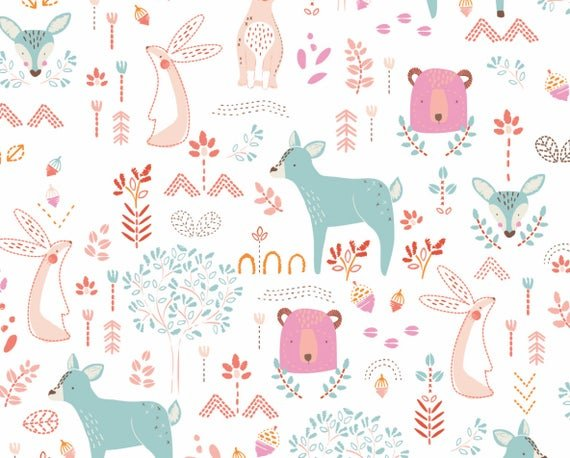 *NURSERY//FOREST FRIENDS//FLANNEL//BAMBOO//CAMELOT