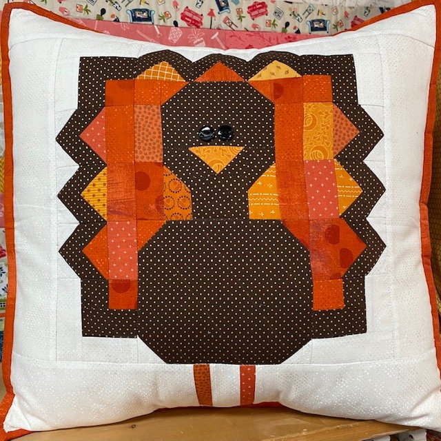 *GOBBLE, GOBBLE TURKEY 18 PILLOW KIT//INCLUDES FABRIC AND PATTERN//CENTER STREET QUILTS