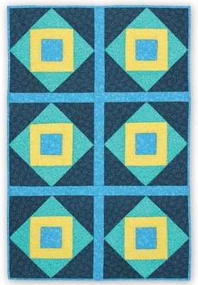 *HOPSCOTCH BLOCK PATTERN//QTY 6-12 BLOCKS//SIZE 24x36 WITH 6 BLOCKS//QUILT AS YOU GO//PRINTED BATTING//JUNE TAILOR INC