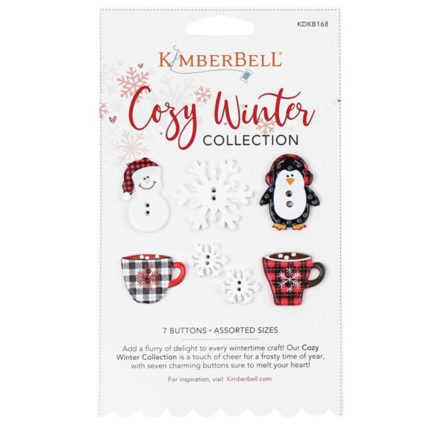 *COZY WINTER COLLECTION BUTTONS//WINTER BUTTONS//7 BUTTONS//KIMBERBELL