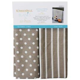 *DOTS & STRIPES TEA TOWELS//GREY//2 BLANK TOWELS//SIZE 18.25 x 28.25//KIMBERBELL