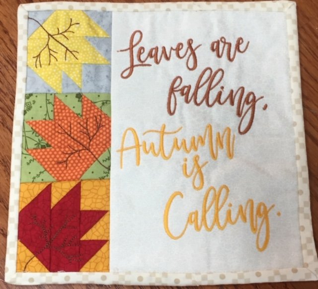 *LEAVES ARE FALLING, AUTUMN IS CALLING BENCH BUDDIES PILLOW SEPTEMBER KIT//SIZE 8x 8//KIMBERBELL