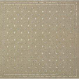 *SASHIKO PRE-PRINTED CLOTH//12.6 SQUARE//GRAY//COTTON-LINEN//LECIEN