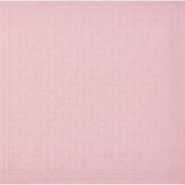 *SASHIKO PRE-PRINTED CLOTH//12.6 SQUARE//CORAL//COTTON-LINEN//LECIEN