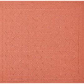 *SASHIKO PRE-PRINTED CLOTH//12.6 SQUARE//ORANGE//COTTON-LINEN//LECIEN