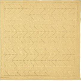 *SASHIKO PRE-PRINTED CLOTH//12.6 SQUARE//BEIGE//COTTON-LINEN//LECIEN