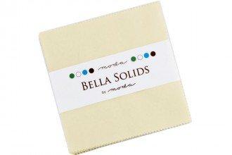 *BELLA SOLIDS//CLASSIC BASICS//5 CHARM PACK//NATURAL//MODA