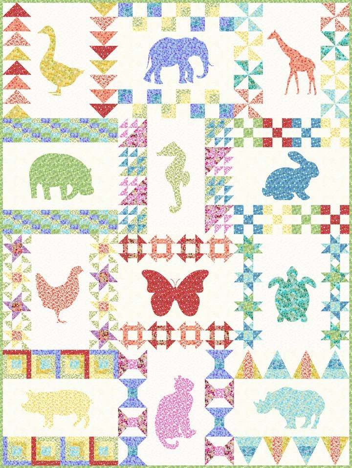 * FLORAL MENAGERIE QUILT BOM PATTERN//GARDEN DELIGHTS II//GRAY SKY STUDIO//IN THE BEGINNING