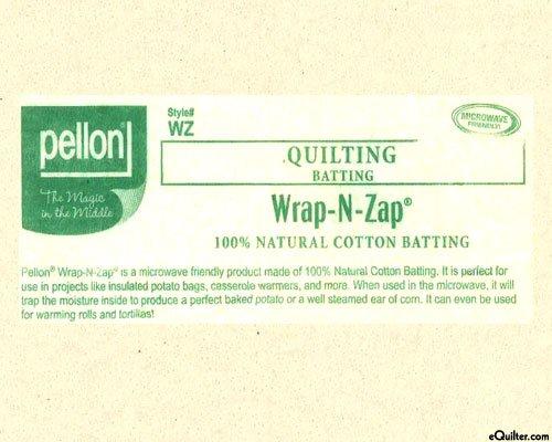 *WRAP-N-ZAP BATTING//100% COTTON//NATURAL//#WZ-2210//22 WIDE//PELLON