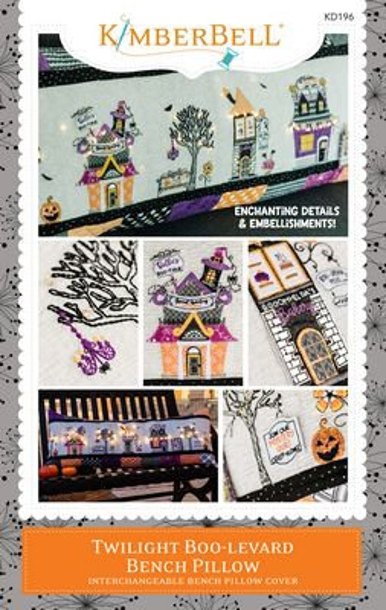 *TWILIGHT BOO-LEVARD BENCH PILLOW PATTERN//SEWING VERSION//KIMBERBELL
