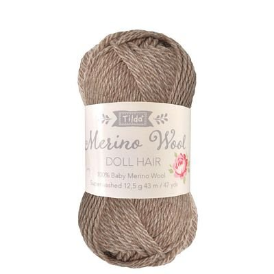*MERINO WOOL DOLL HAIR//ASH BLONDE//100% BABY MERINO WOOL//TILDA