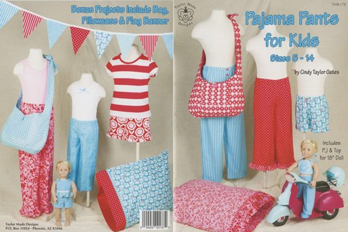 *PAJAMA PANTS FOR KIDS//SIZE 5-14 & DOLLS//TAYLOR MADE DESIGNS
