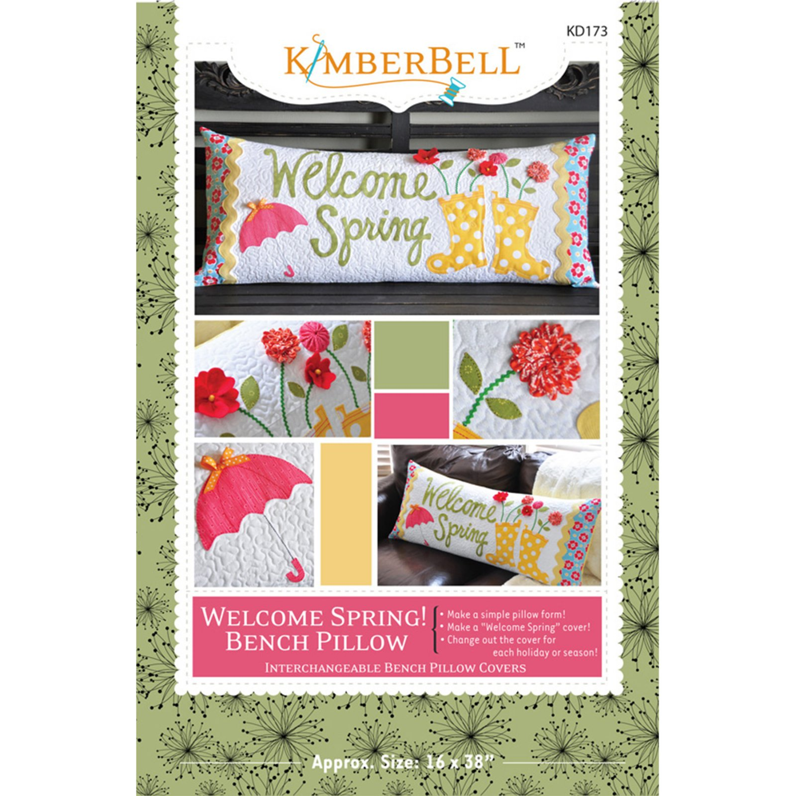 *WELCOME SPRING BENCH PILLOW KIT//KIMBERBELL