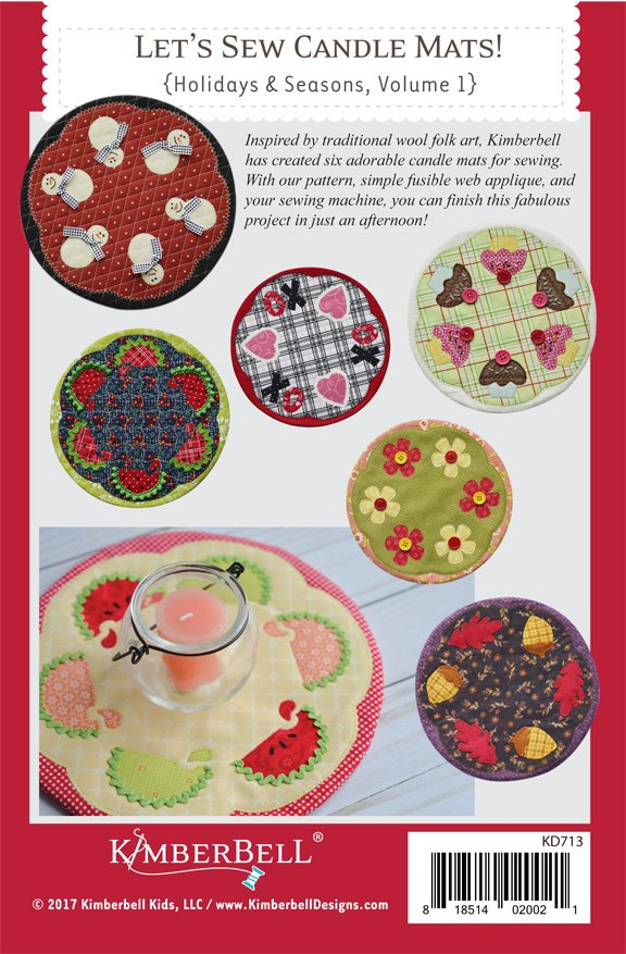 *LET'S SEW CANDLE MATS!//HOLIDAY & SEASONS VOLUME 1//BOOK//KIMBERBELL