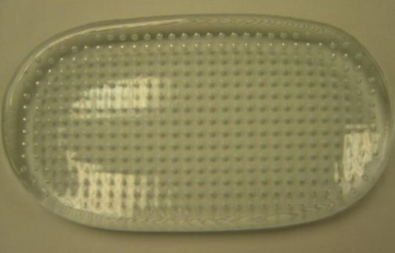 Clear Glass Bubble Oval Plate
