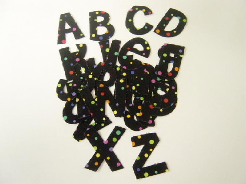 Alphabet - A-Z Black Background