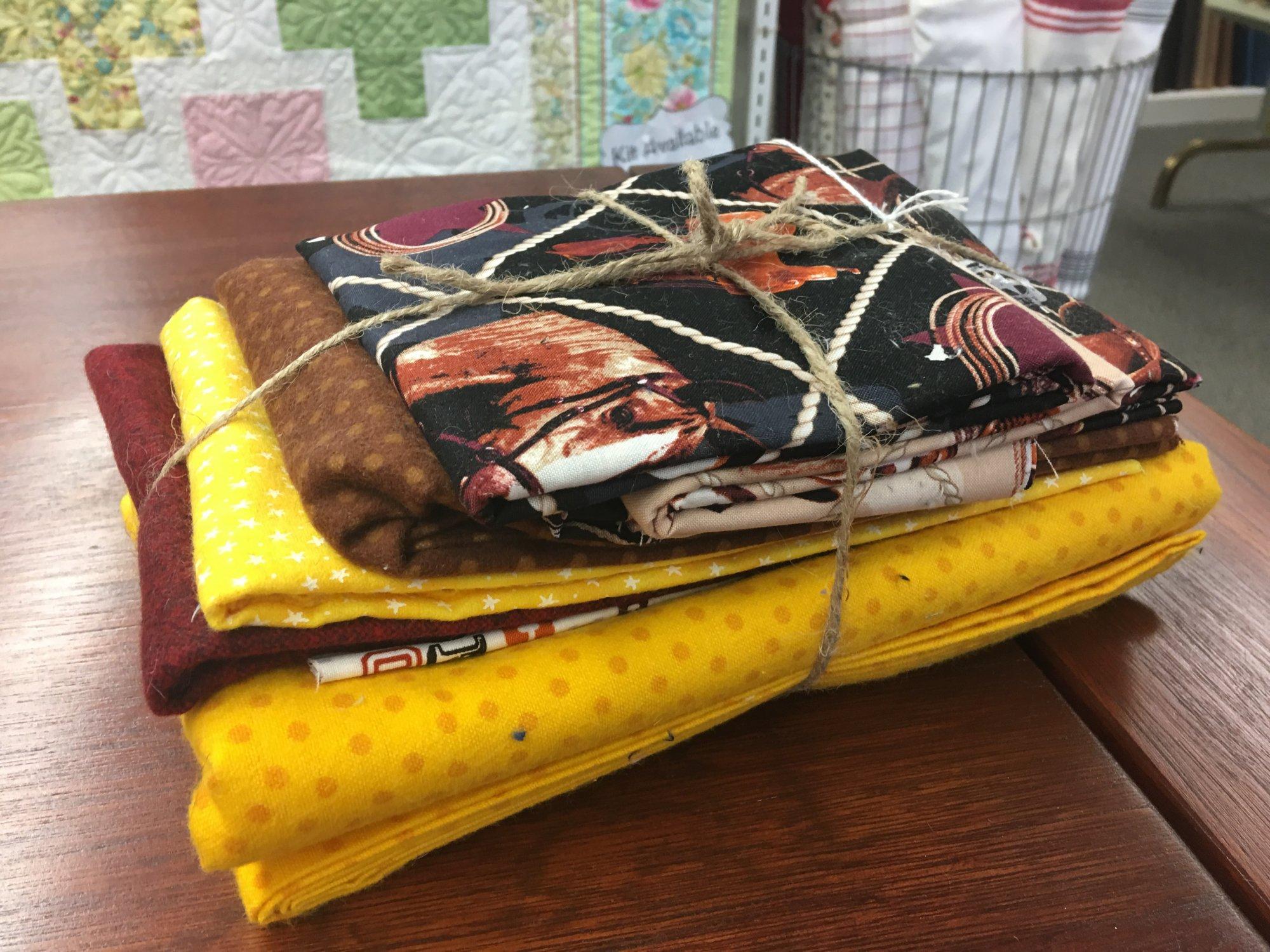 Horses Flannel Rag Quilt Kit