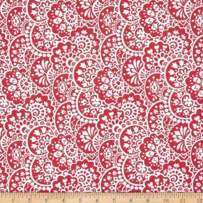 Bree Paisley Coral Fabric  02133 02