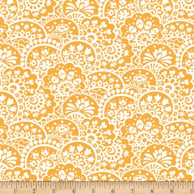 Bree Paisley Orange Fabric 02133 22