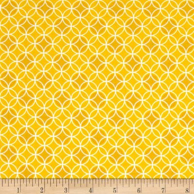 Bree Dot Circle Yellow Fabric 02134 03