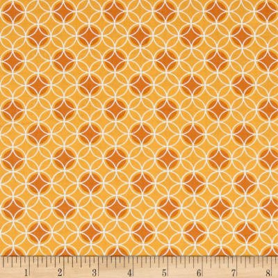 Bree Dot Circle Orange Fabric 02134 22
