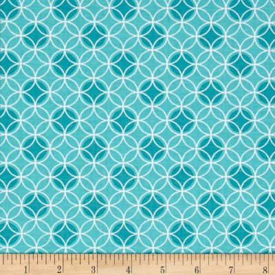 Bree Dot Circle Aqua Fabric 02134-24
