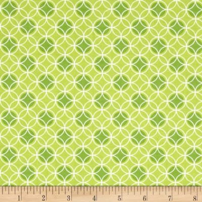 Bree Dot Circle Green Fabric 01234 40