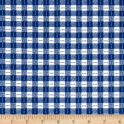Bree Check Navy/White Fabric 02136 13