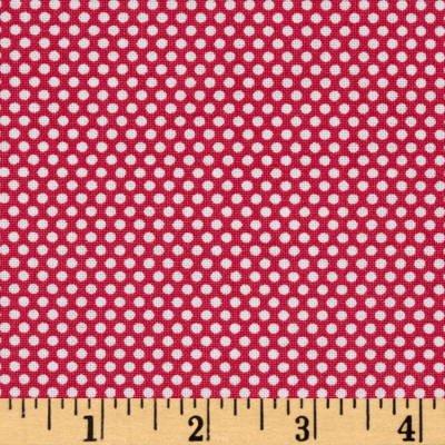 Bree Tiny Dot Coral Fabric 02137 02