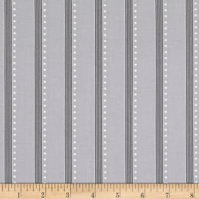 Bree Stripe Gray Fabric 01239 08