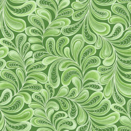 Feather Frolic Green 10266P 44