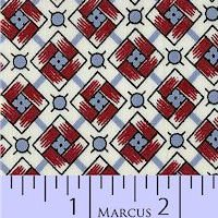 Aunt Grace Classics 1425-0311 Wh/Bl/Red Squares
