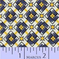 Aunt Grace Classics 1425-0350 Wh/Bl/Yell Squares