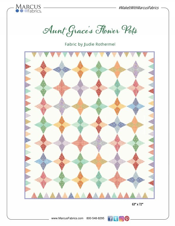Aunt Grace's Flower Pots Pattern
